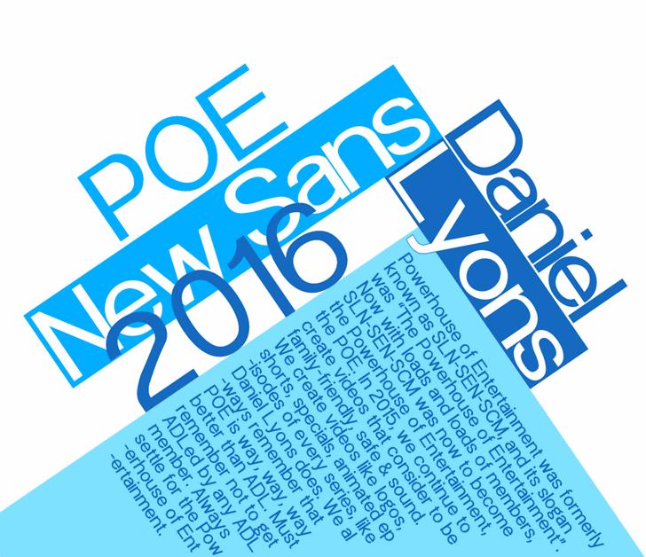 Image for POE Sans New font