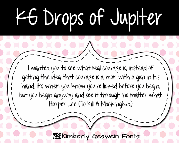 Image for KG Drops of Jupiter font
