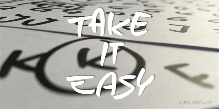 Take it Easy font by Roland Huse Design