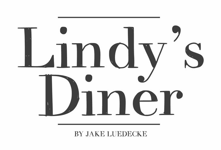 Image for LindysDiner font
