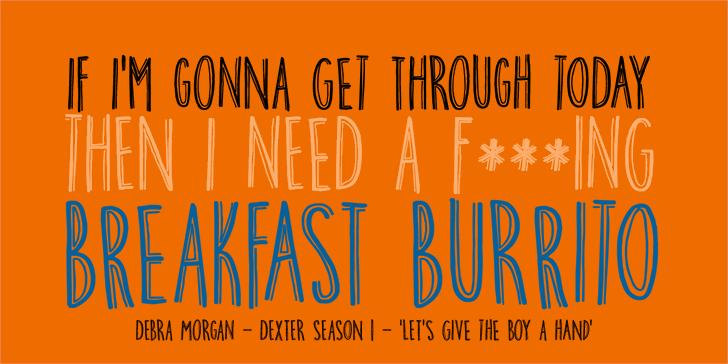 DK Breakfast Burrito font by David Kerkhoff