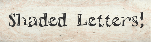 Image for ShadedLetters font