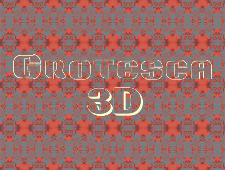 Image for Grotesca3-D font