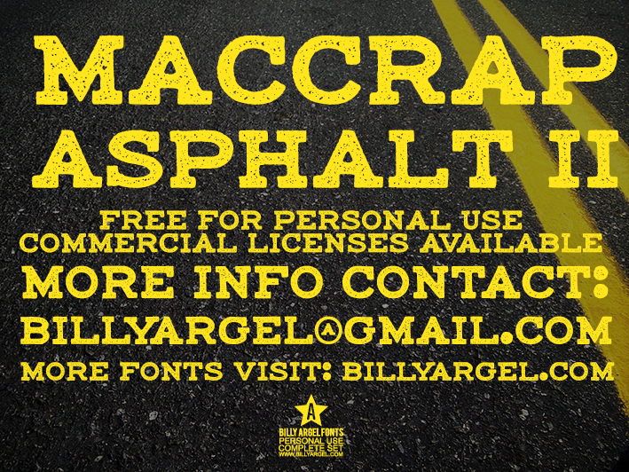 Image for maccrap asphalt II PERSONAL USE font