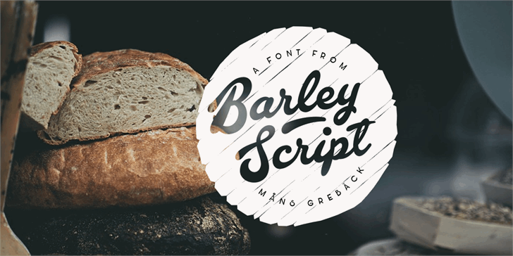 Image for Barley Script PERSONAL USE font