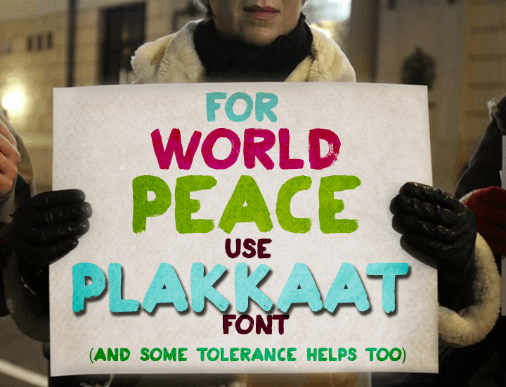 Image for Plakkaat font