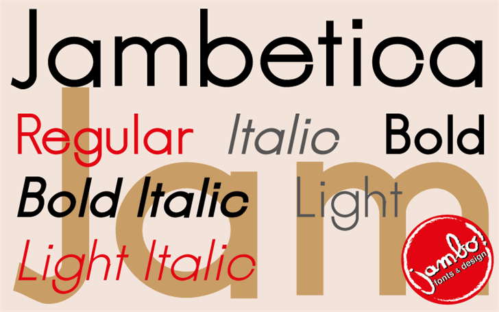 Image for Jambetica font