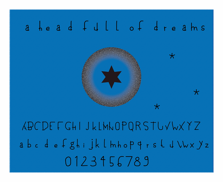 Image for a head full of dreams font