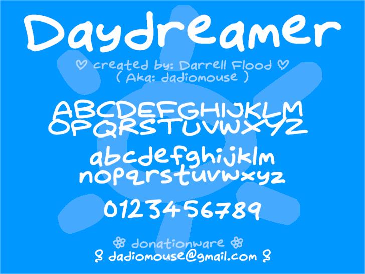 Daydreamer font by Darrell Flood