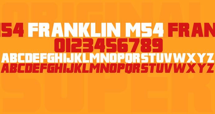 Image for Franklin M54 font