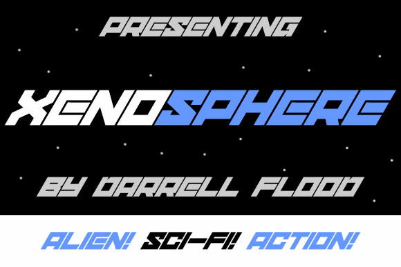 xenosphere font by Darrell Flood