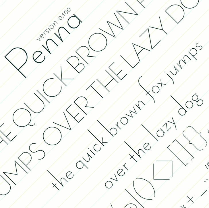Image for Penna font