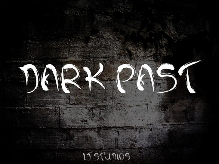 Dark past font by LJ Design Studios