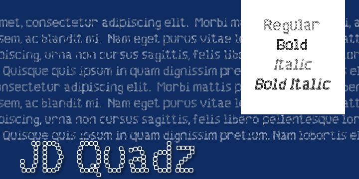 Image for JD Quadz font
