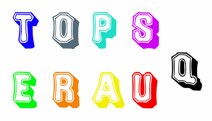 Image for Topsquare font