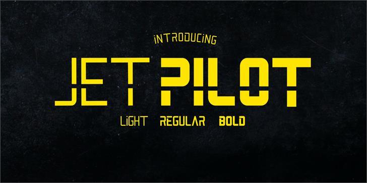 Jet Pilot font by madeDeduk