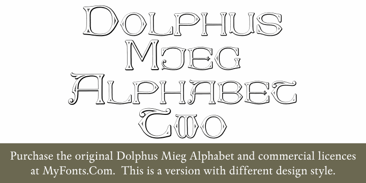 Image for Dolphus-Mieg Alphabet Two font
