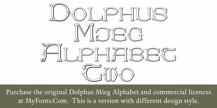 Dolphus-Mieg Alphabet Two font by Intellecta Design