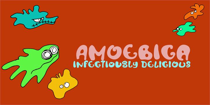 Image for DK Amoebica font