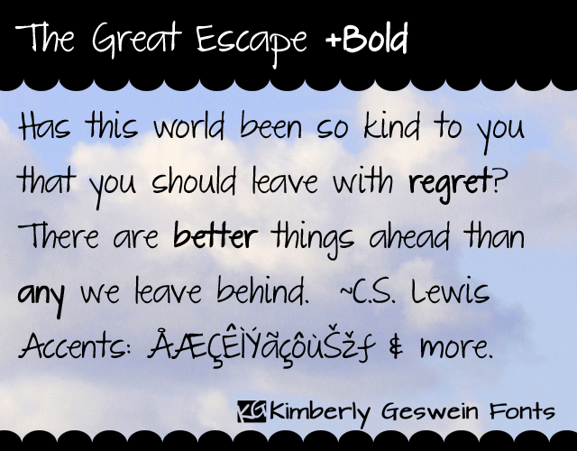 Image for The Great Escape font