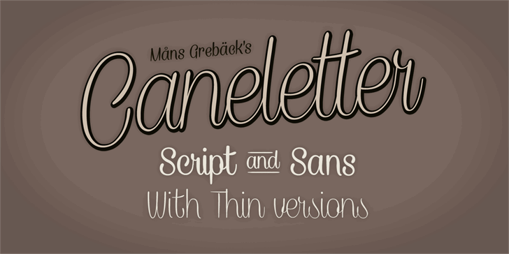 Image for Caneletter Sans Personal Use font
