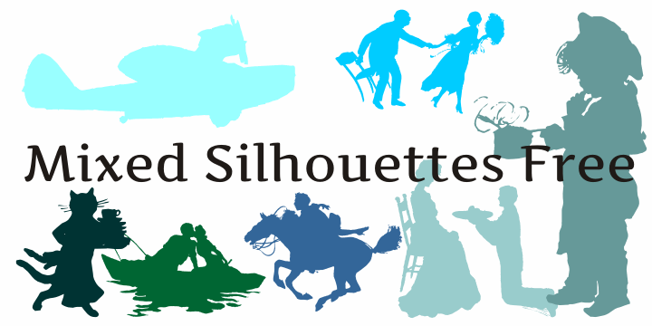 Mixed Silhouettes Free font by Intellecta Design