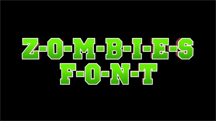 Image for ZOMBIES font