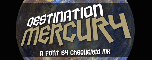 Image for Destination Mercury font