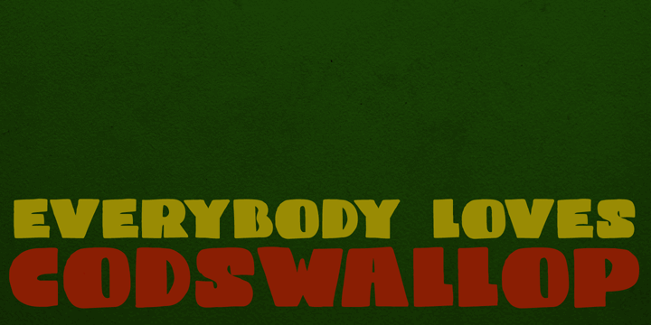 Image for DK Codswallop font