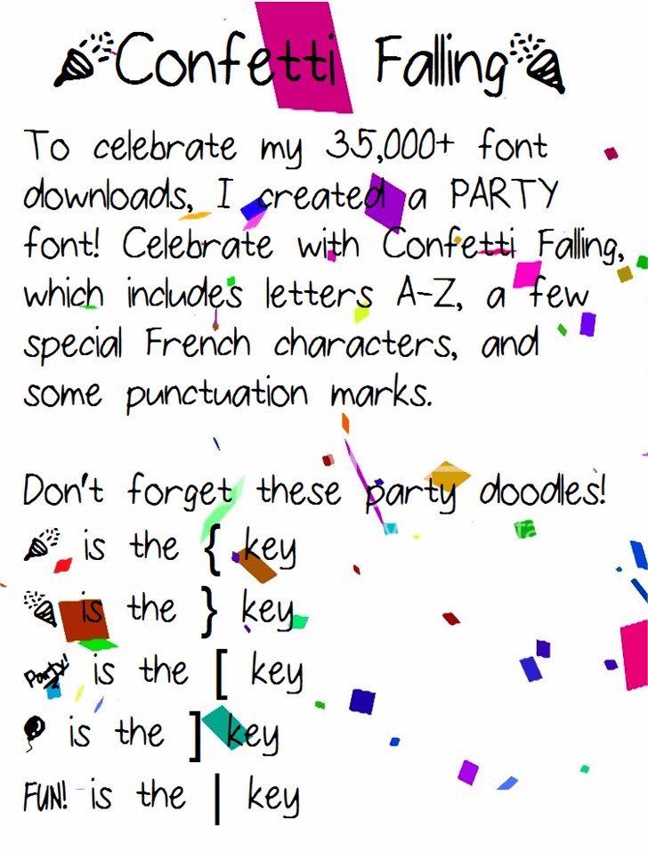 Image for ConfettiFalling font