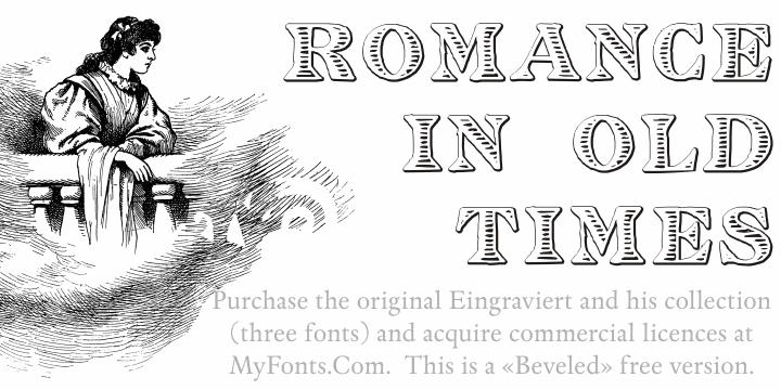 Image for Eingraviert Beveled font