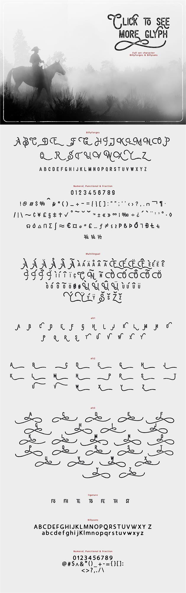 Image for Billyforges Demo font