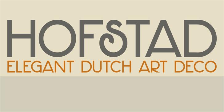 Image for DK Hofstad font
