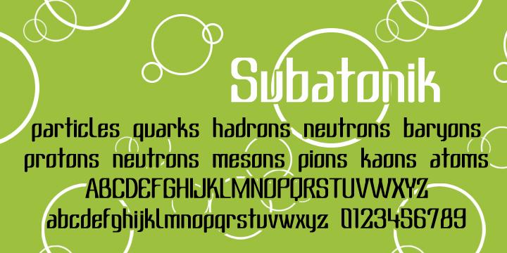 Image for Subatonik font