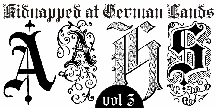 Image for Kidnapped at German Lands Three font