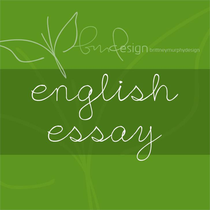 Image for English Essay font