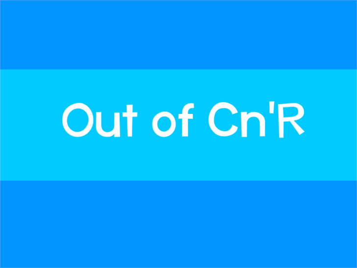 Image for Out of Cn'R font