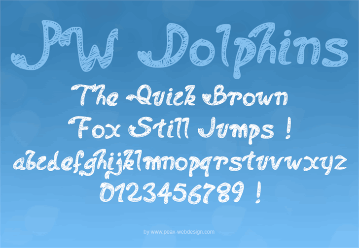 PWDolphins font by Peax Webdesign