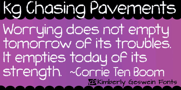 Image for KG Chasing Pavements font
