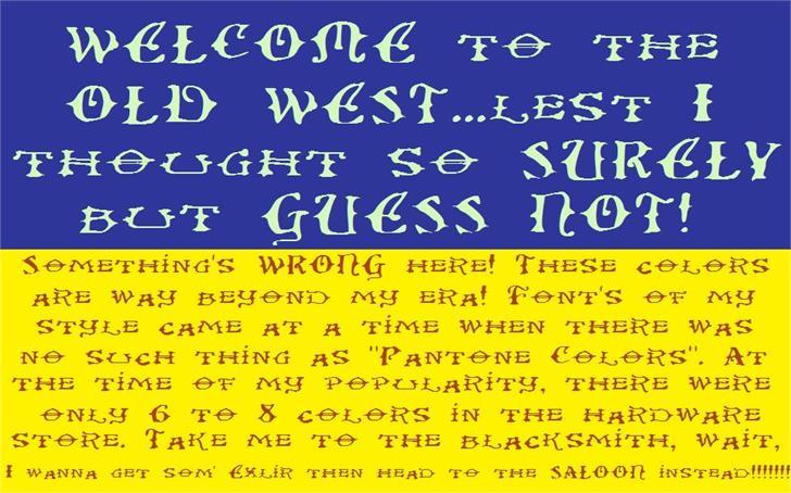 Image for Ol' Wes' Rustik font