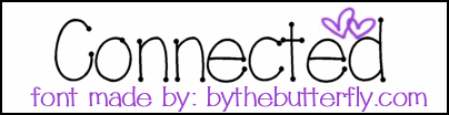 Connected font by ByTheButterfly