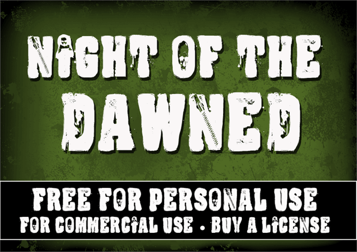 Image for CF Night Of The Damned font