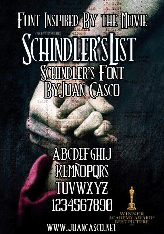 Image for Schindler's Font