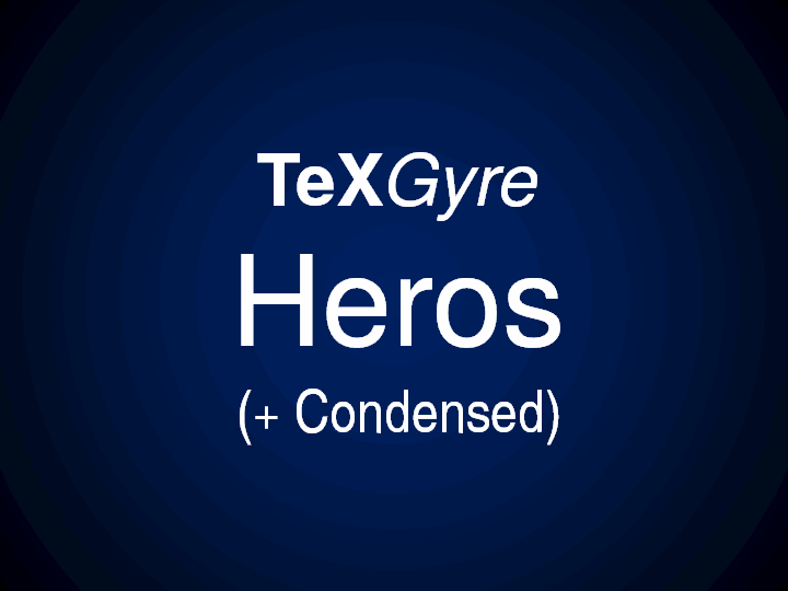 TeXGyreHeros font by GUST e-foundry