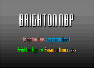 Image for Brighton NBP font