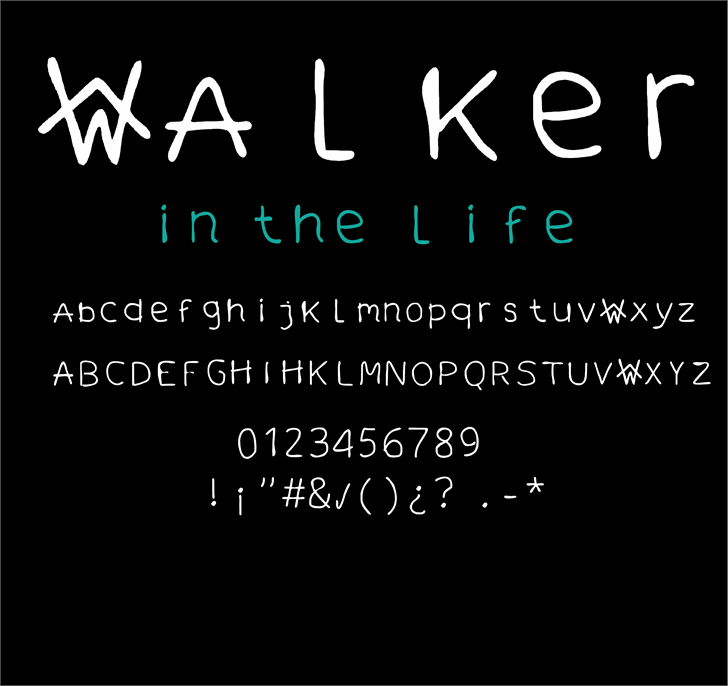 Image for walker in the life font