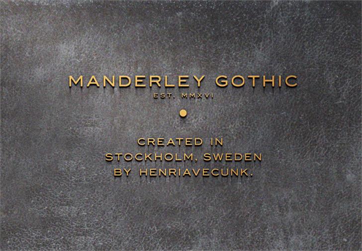 Image for Manderley font