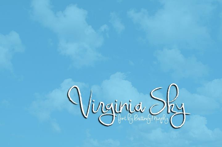 Image for Virginia Sky font