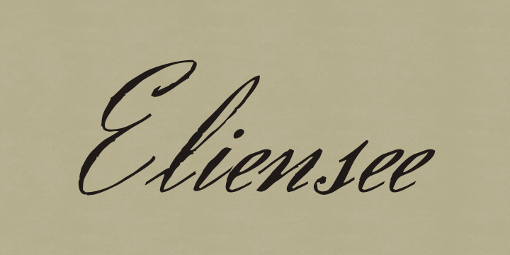 Eliensee font by Intellecta Design