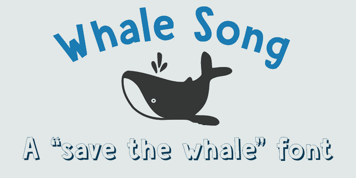 DK Whale Song font by David Kerkhoff